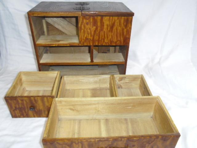 E33◇時代 裁縫箱 針箱◇小物入 小箪笥 小引き出し◇道具箱 和家具◇_画像9
