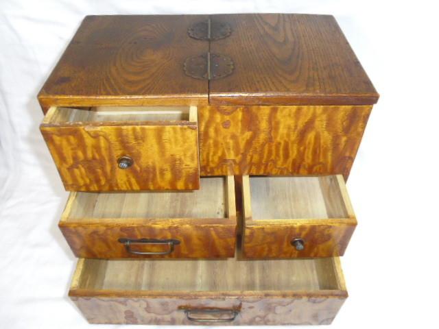 E33◇時代 裁縫箱 針箱◇小物入 小箪笥 小引き出し◇道具箱 和家具◇_画像8