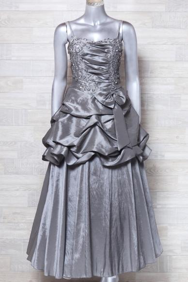 キャミドレス 大きいサイズ カラードレス 光沢 パーティードレス ロングドレス ウエディングドレス_画像2