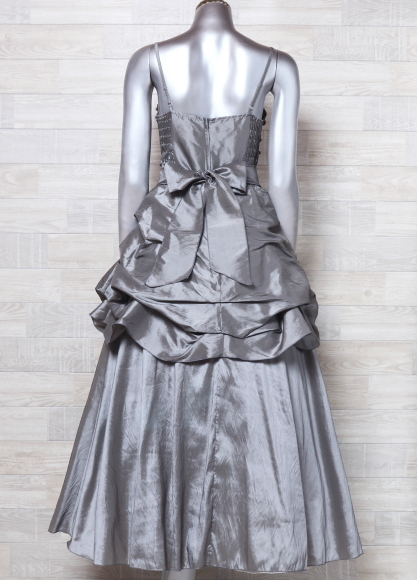 キャミドレス 大きいサイズ カラードレス 光沢 パーティードレス ロングドレス ウエディングドレス_画像3