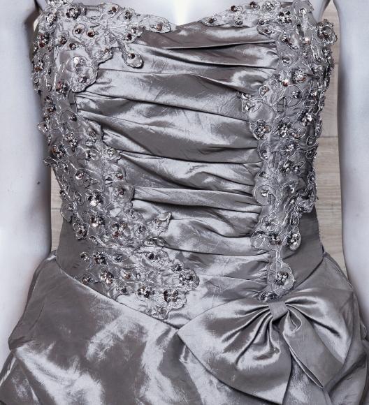 キャミドレス 大きいサイズ カラードレス 光沢 パーティードレス ロングドレス ウエディングドレス_画像5