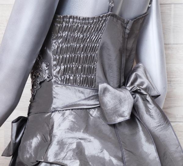 キャミドレス 大きいサイズ カラードレス 光沢 パーティードレス ロングドレス ウエディングドレス_画像6