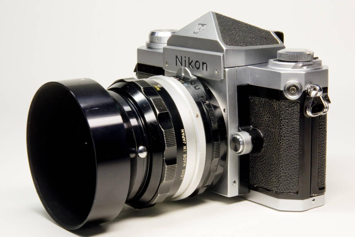 ニコンF アイレベル シルバー  Nikkor-S・C Auto 50mm 1:1.4 セット 動作確認品_画像2
