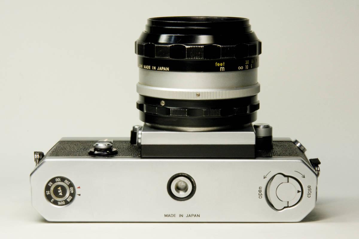 ニコンF アイレベル シルバー  Nikkor-S・C Auto 50mm 1:1.4 セット 動作確認品_画像7