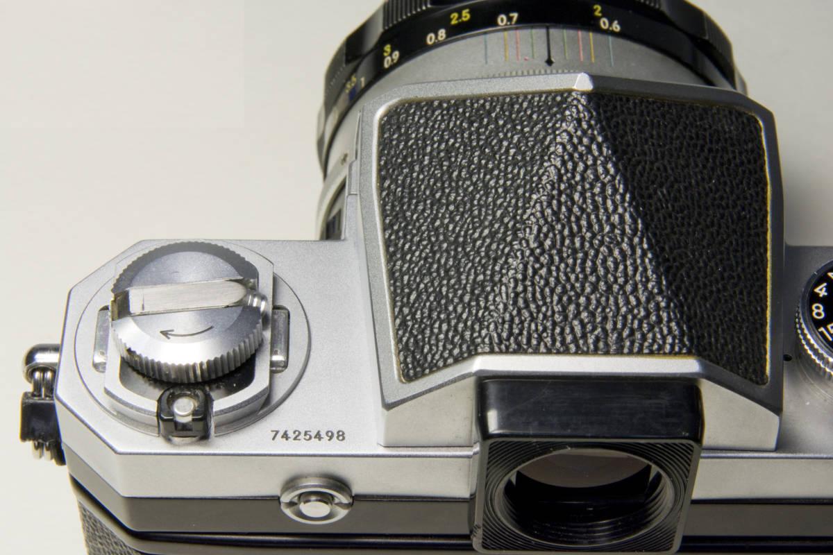 ニコンF アイレベル シルバー  Nikkor-S・C Auto 50mm 1:1.4 セット 動作確認品_画像10
