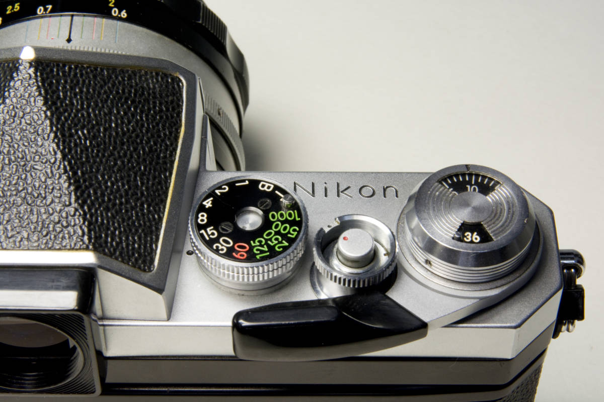 ニコンF アイレベル シルバー  Nikkor-S・C Auto 50mm 1:1.4 セット 動作確認品_画像9