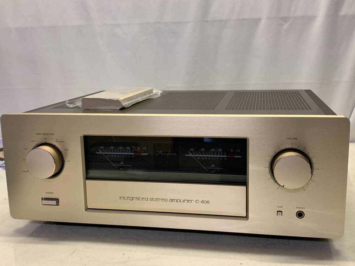[ used beautiful goods pre-main amplifier remote control attaching ]Accuphase E-406
