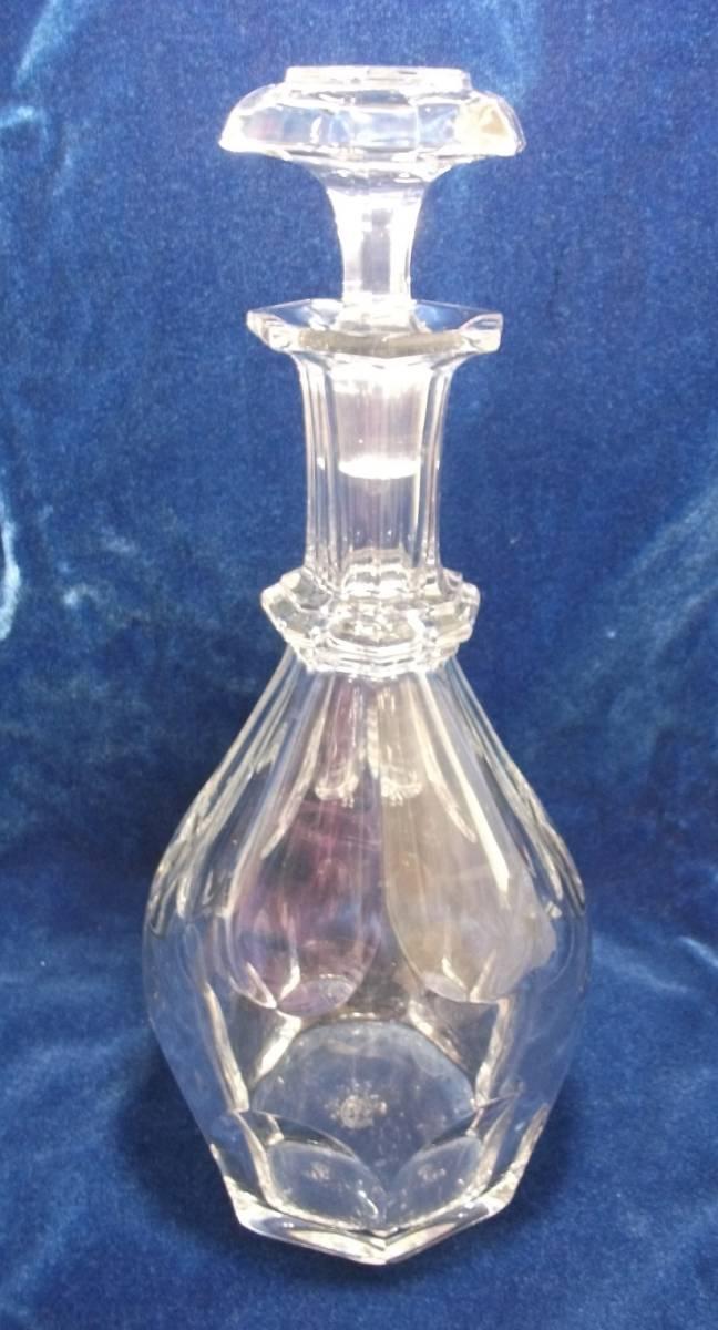 バカラ デキャンタ デカンタ クリスタルガラス BACCARAT 高さ(蓋含む)約30cm_画像2