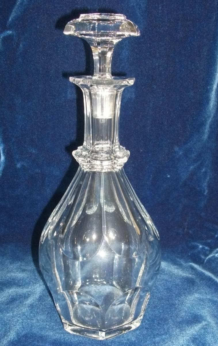 バカラ デキャンタ デカンタ クリスタルガラス BACCARAT 高さ(蓋含む)約30cm_画像1