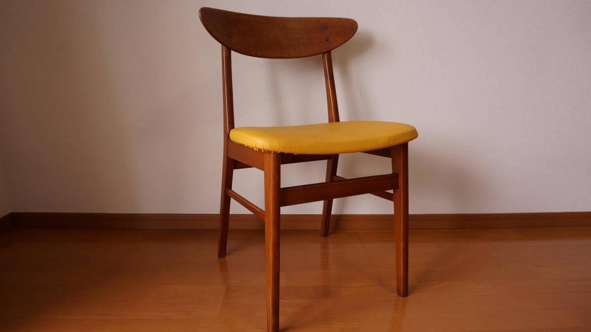 北欧 デンマーク モダン ヴィンテージ チェア 椅子 1960年代 ~ ダイニング 家具 ビンテージ アンティーク 骨董 レア チーク材_画像5