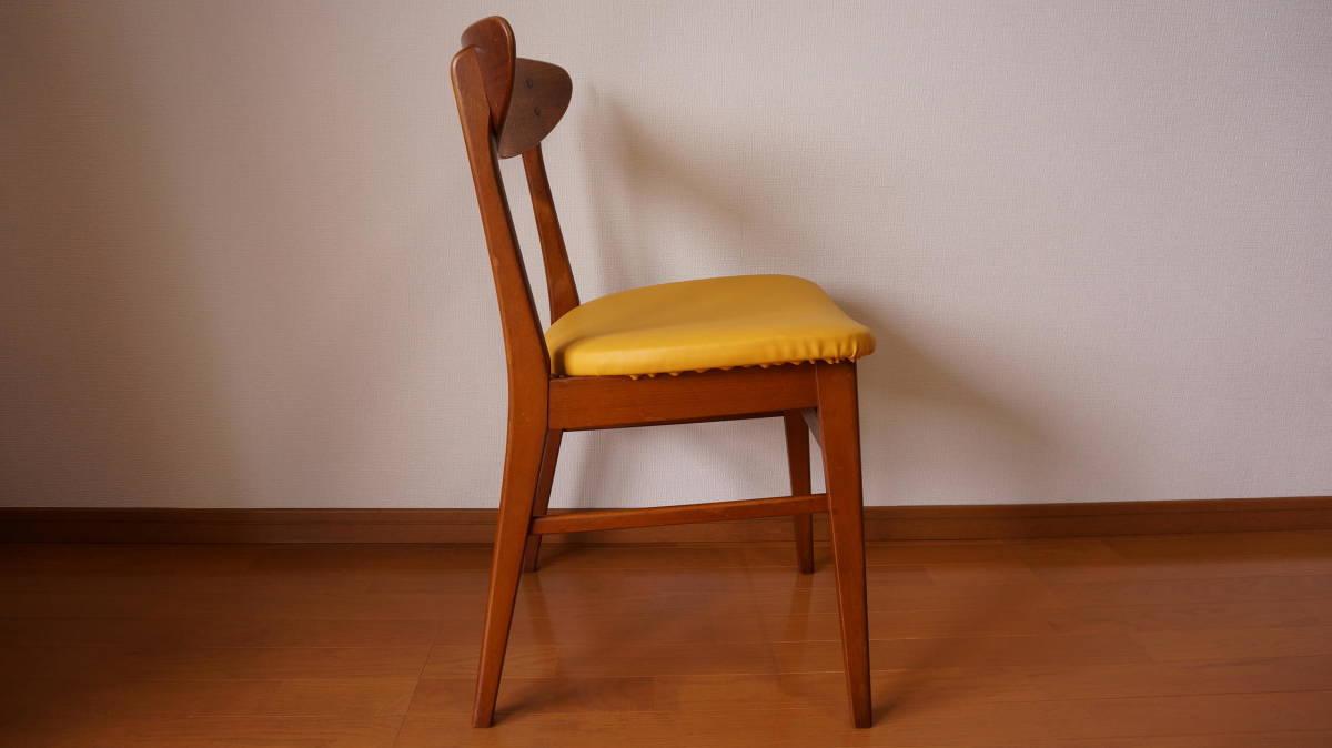 北欧 デンマーク モダン ヴィンテージ チェア 椅子 1960年代 ~ ダイニング 家具 ビンテージ アンティーク 骨董 レア チーク材_画像7