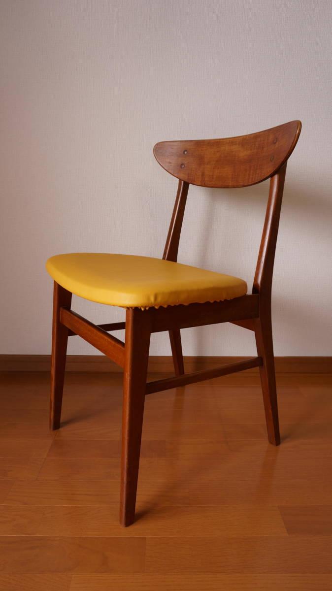 北欧 デンマーク モダン ヴィンテージ チェア 椅子 1960年代 ~ ダイニング 家具 ビンテージ アンティーク 骨董 レア チーク材_画像2