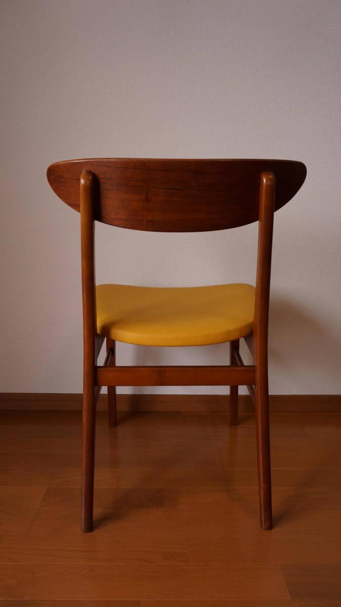 北欧 デンマーク モダン ヴィンテージ チェア 椅子 1960年代 ~ ダイニング 家具 ビンテージ アンティーク 骨董 レア チーク材_画像3