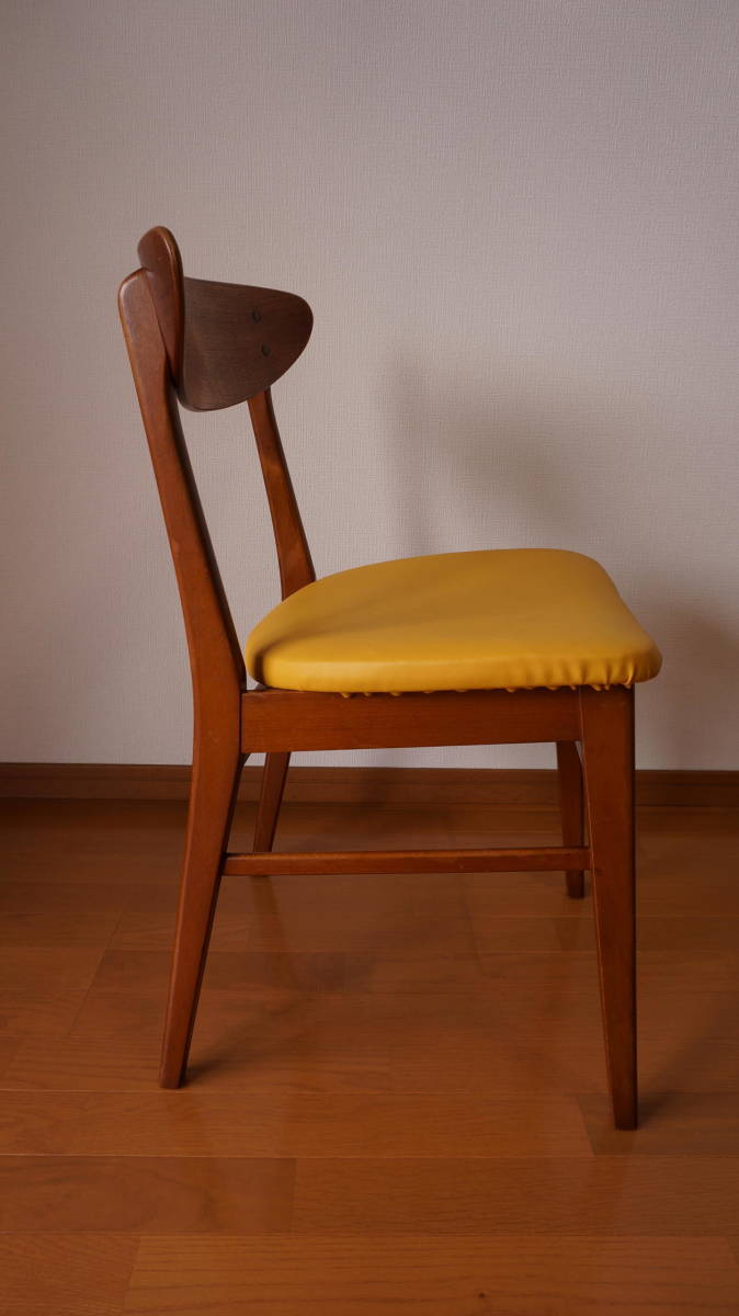 北欧 デンマーク モダン ヴィンテージ チェア 椅子 1960年代 ~ ダイニング 家具 ビンテージ アンティーク 骨董 レア チーク材_画像4