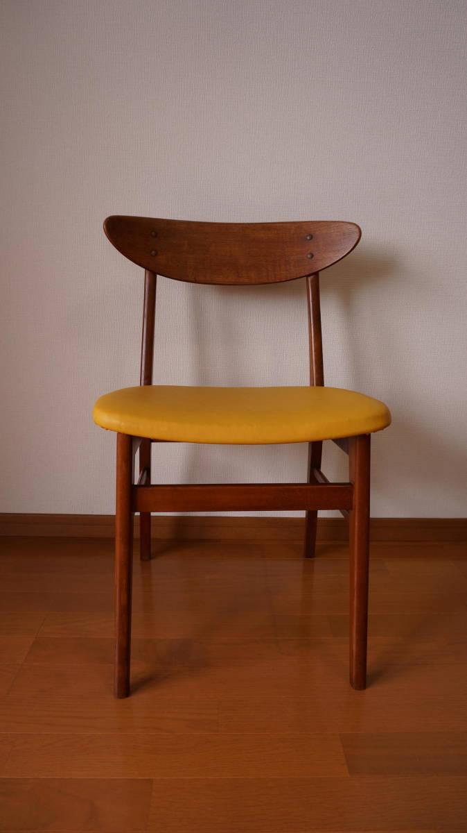 北欧 デンマーク モダン ヴィンテージ チェア 椅子 1960年代 ~ ダイニング 家具 ビンテージ アンティーク 骨董 レア チーク材_画像6