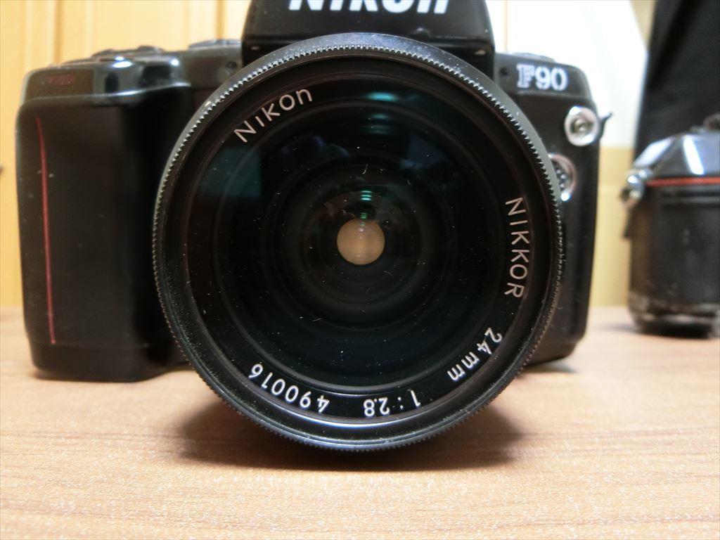 11 NIKON/ニコン F90 1:2.8 24mm/F 1:2.8 135mm/F-501 AF 35-105 カメラ3個セット_画像4