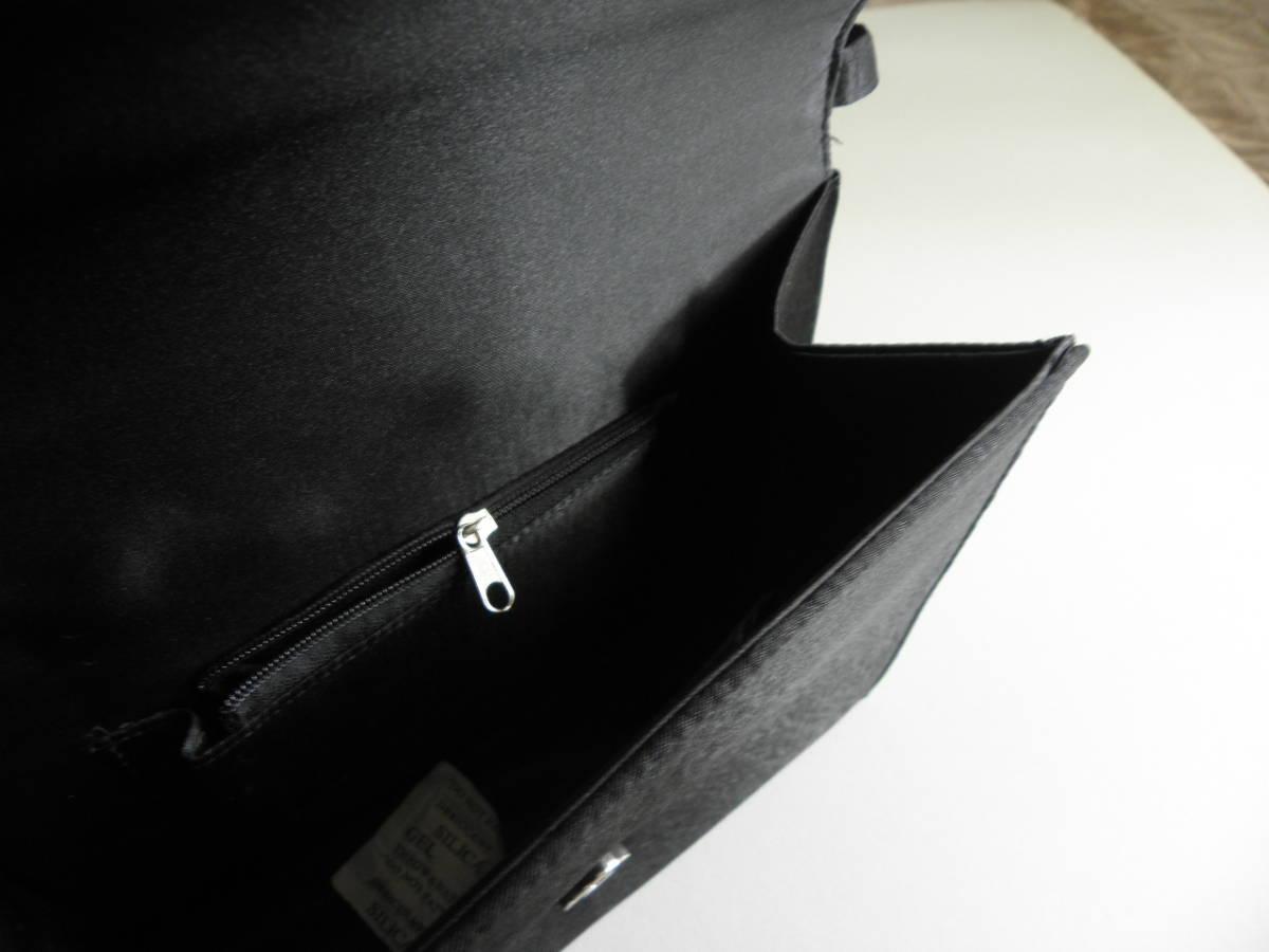 2232  お手頃お葬式バッグ シンプル★新品 黒サテン_画像5