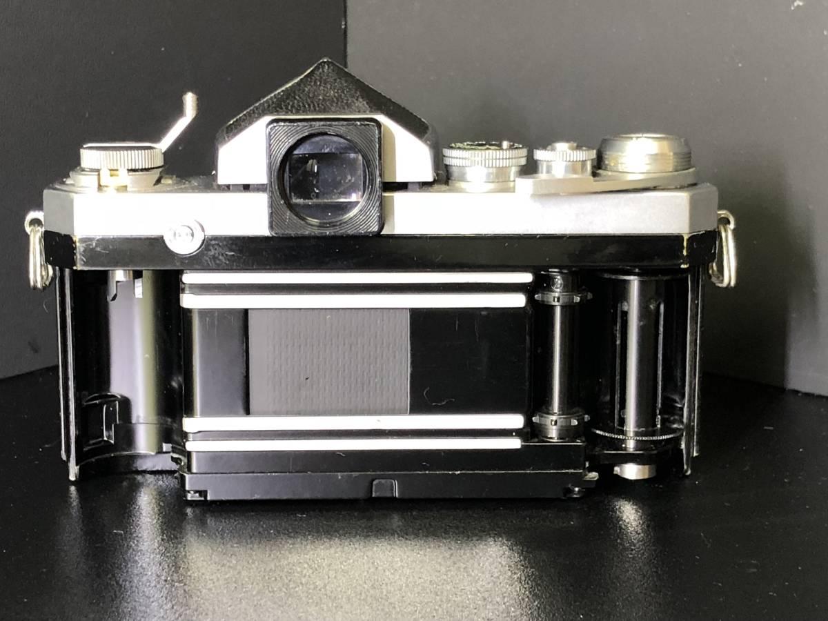 (C3)Nikon F フィルムカメラ NIKKOR-H Auto 1:2 f=50mm マニュアルフォーカス 打痕有り ジャンク_画像4