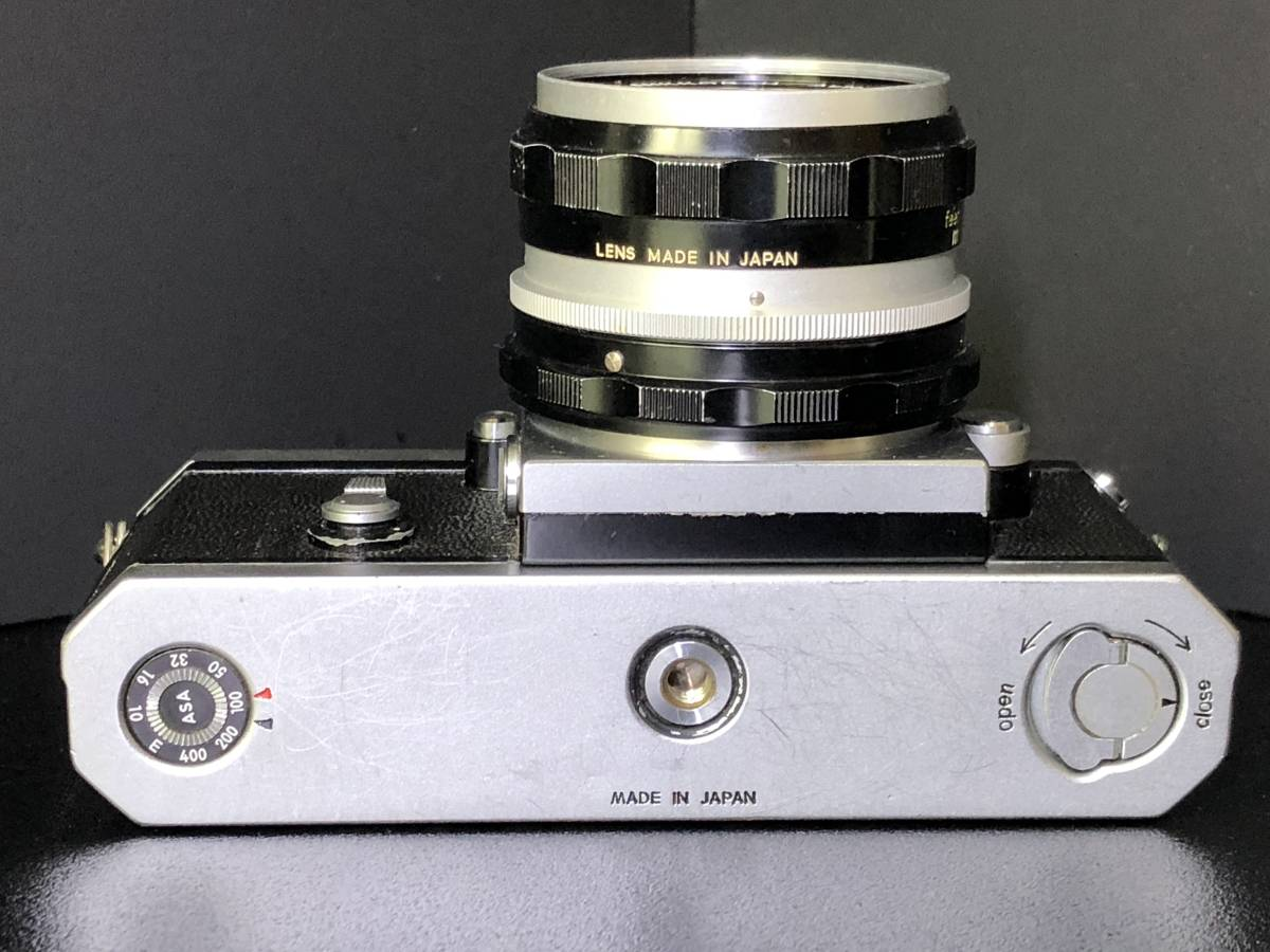 (C3)Nikon F フィルムカメラ NIKKOR-H Auto 1:2 f=50mm マニュアルフォーカス 打痕有り ジャンク_画像6