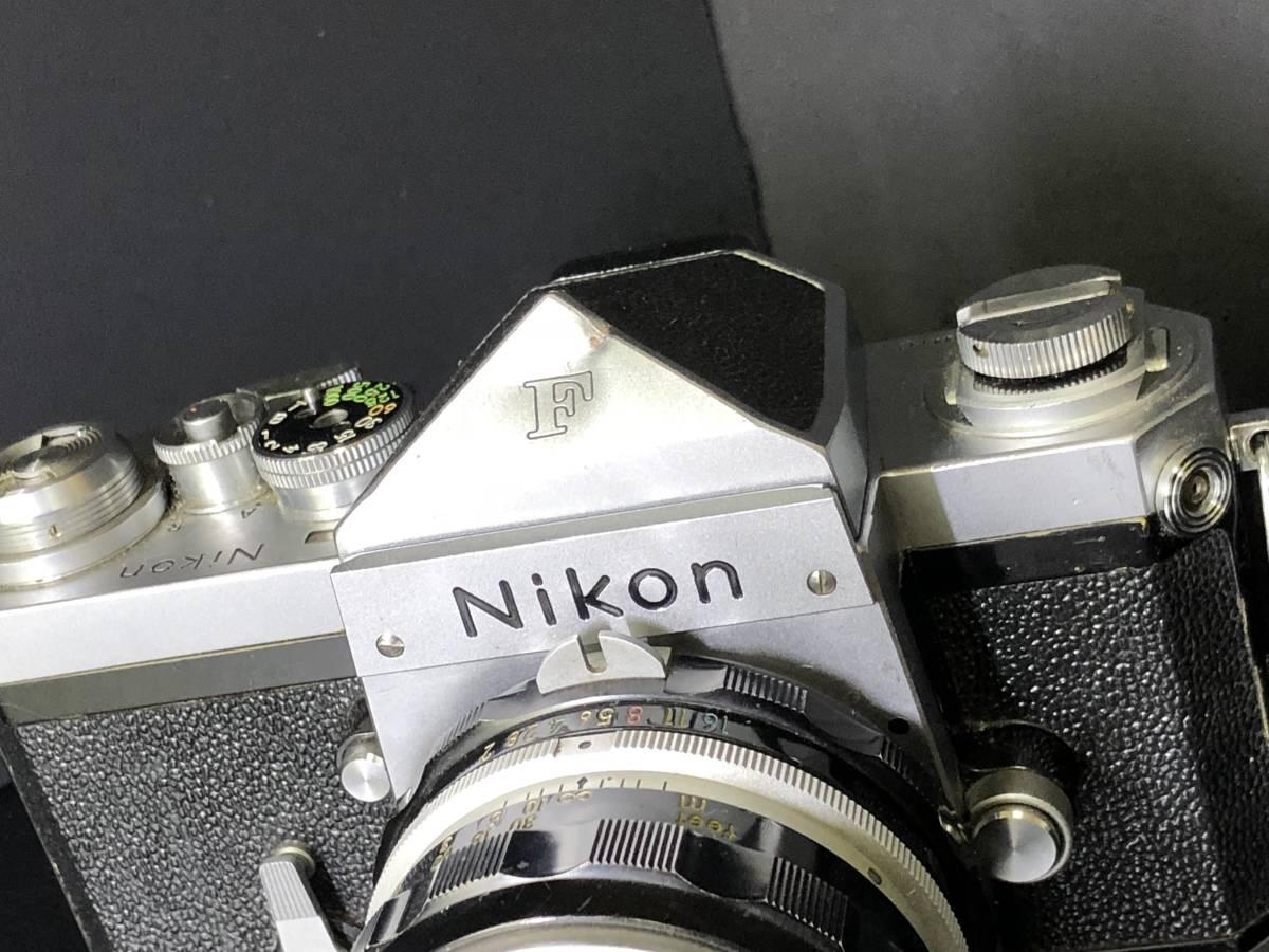 (C3)Nikon F フィルムカメラ NIKKOR-H Auto 1:2 f=50mm マニュアルフォーカス 打痕有り ジャンク_画像3