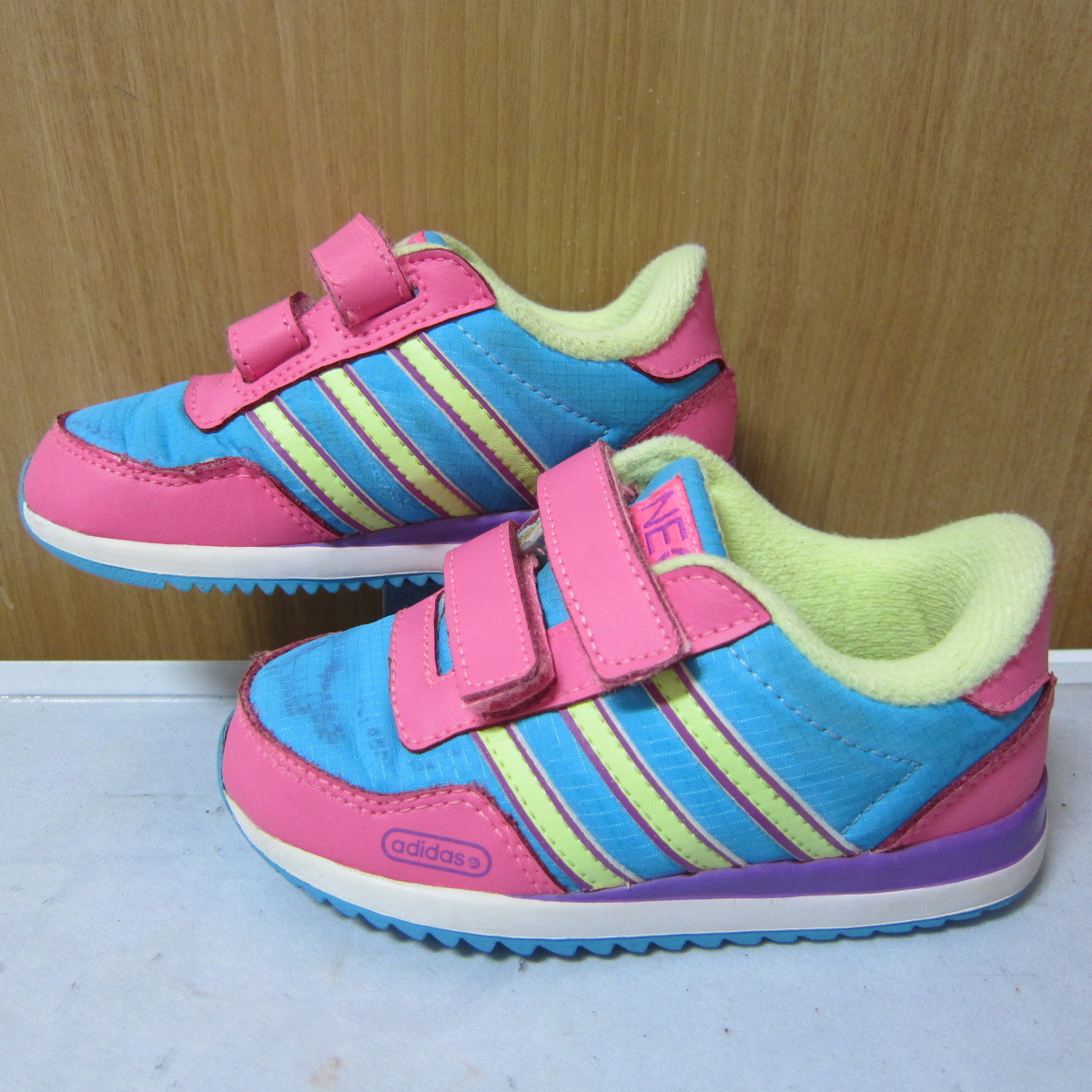 big discount release info on how to buy baby shoes Adidas Neo (G52727) water pink purple yellow 13cm ...