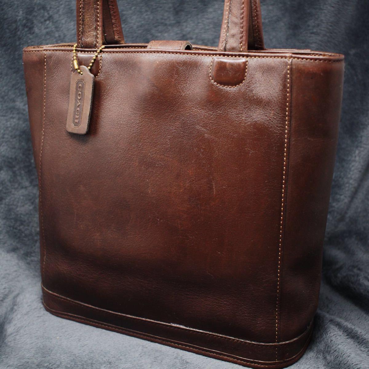 5ed5382908fb オールドコーチ USA製 OLD COACH メンズ オールレザー トートバッグ ショルダーバッグ 茶 ブラウン 鞄 ...
