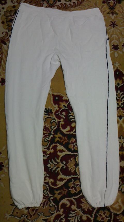 NIKE ナイキ スウェットパンツ ホワイト Lサイズ オレンジスウォッシュ USA製 ビンテージ USED 古着_画像2