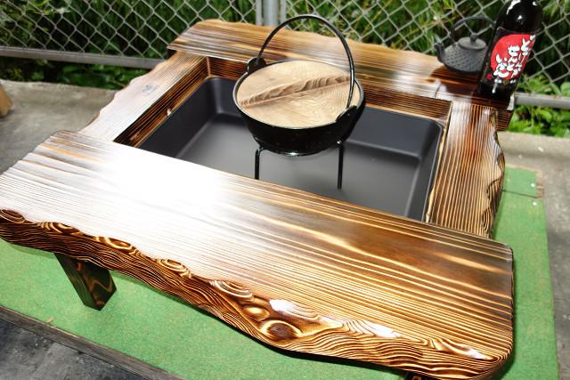 囲炉裏テーブル「E-131」コンパクト  おこぜ夢工房の田舎作り一点物_画像1