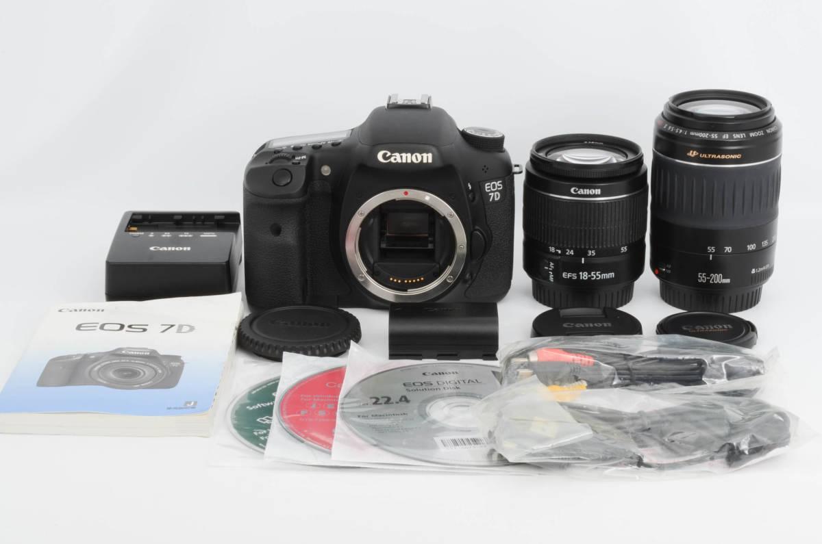 【極上美品】キャノン Canon EOS 7D ダブルレンズセット (yo-h02)
