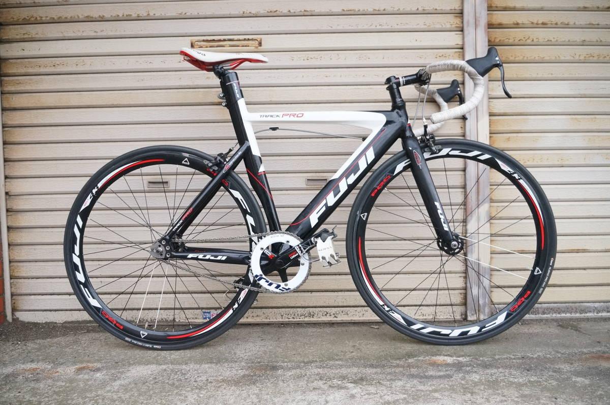 FUJI TRACK PRO フジ トラック プロ ピスト 完成車 サイズ520 自転車ロードバイク_画像1