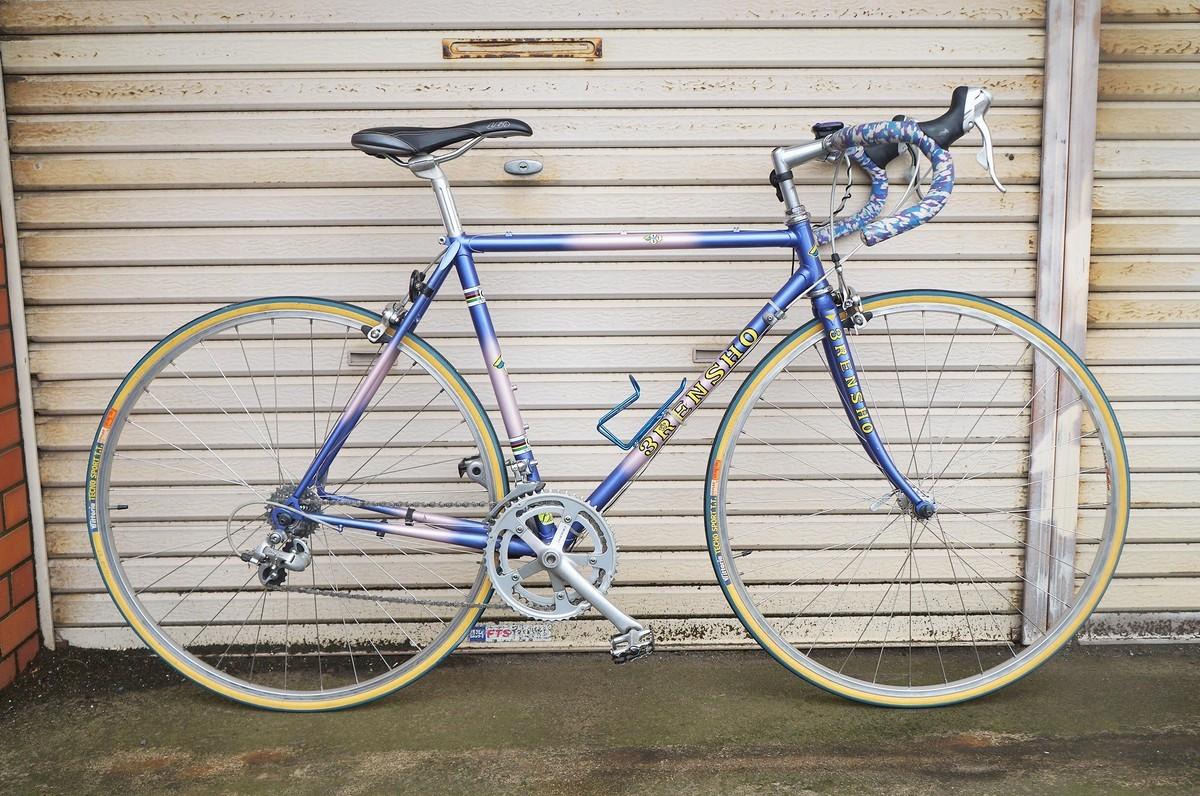 希少 レア 3RENSHO 三連勝 3連勝 ロードバイク 自転車 ツートンパープル ビンテージ_画像1