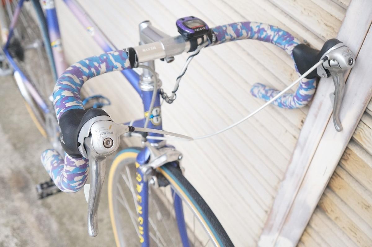 希少 レア 3RENSHO 三連勝 3連勝 ロードバイク 自転車 ツートンパープル ビンテージ_画像4