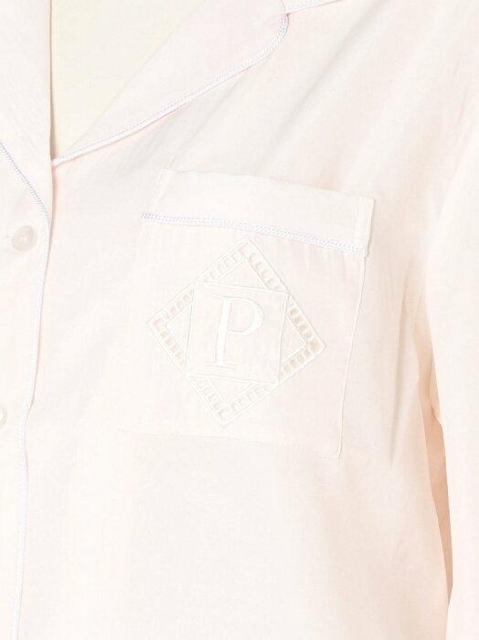 ジェラートピケ GELATO PIQUE 長袖 シャツ ショートパンツ 上下 セットアップ ピンク 新品 未使用 タグ付き ルームウェア パジャマ 2017_画像3