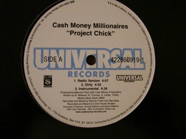 Cash Money Millionaires / Unplugged Featuring Lil Wayne Project Chick / I Don't Know_画像1
