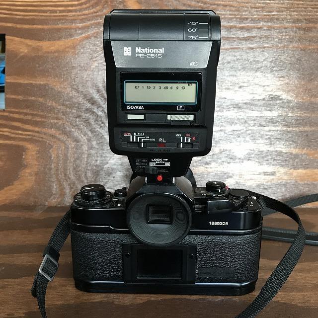 ◆ジャンク Canon キャノン A-1 フィルムカメラ ズームレンズ FD 35-105mm 1:3.5 ストロボ ナショナル National PE-251S_画像4