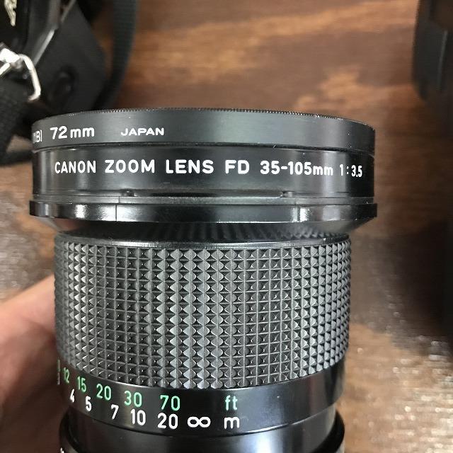 ◆ジャンク Canon キャノン A-1 フィルムカメラ ズームレンズ FD 35-105mm 1:3.5 ストロボ ナショナル National PE-251S_画像10