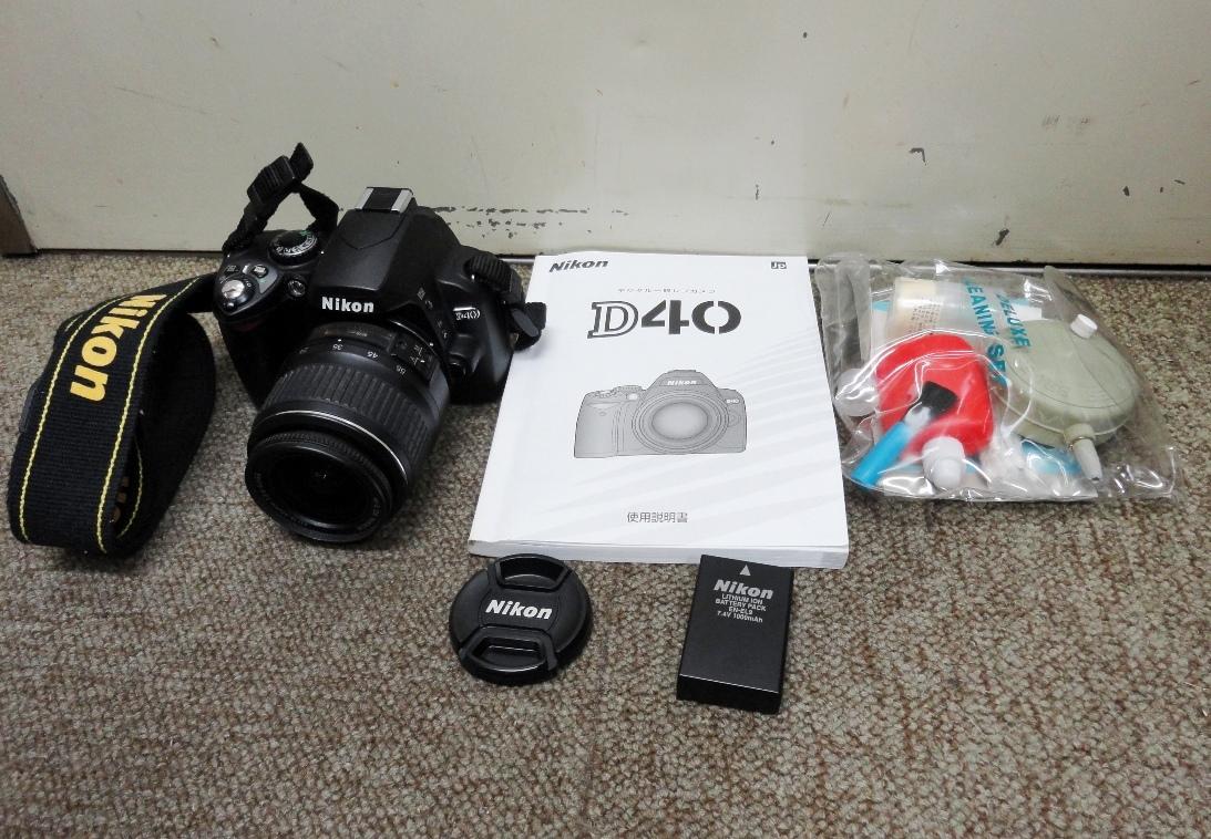 ☆Nikon/ニコン デジタル一眼レフカメラ D40 ダブルレンズ☆_画像3
