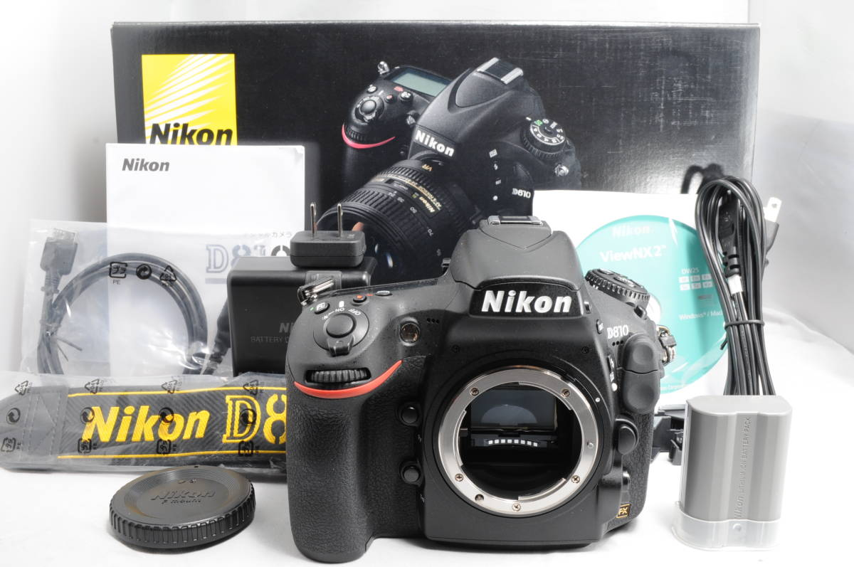Wonderful Shutter Number 2435 Times Super Finest Quality Nikon D810 Body Only Beautiful Goods