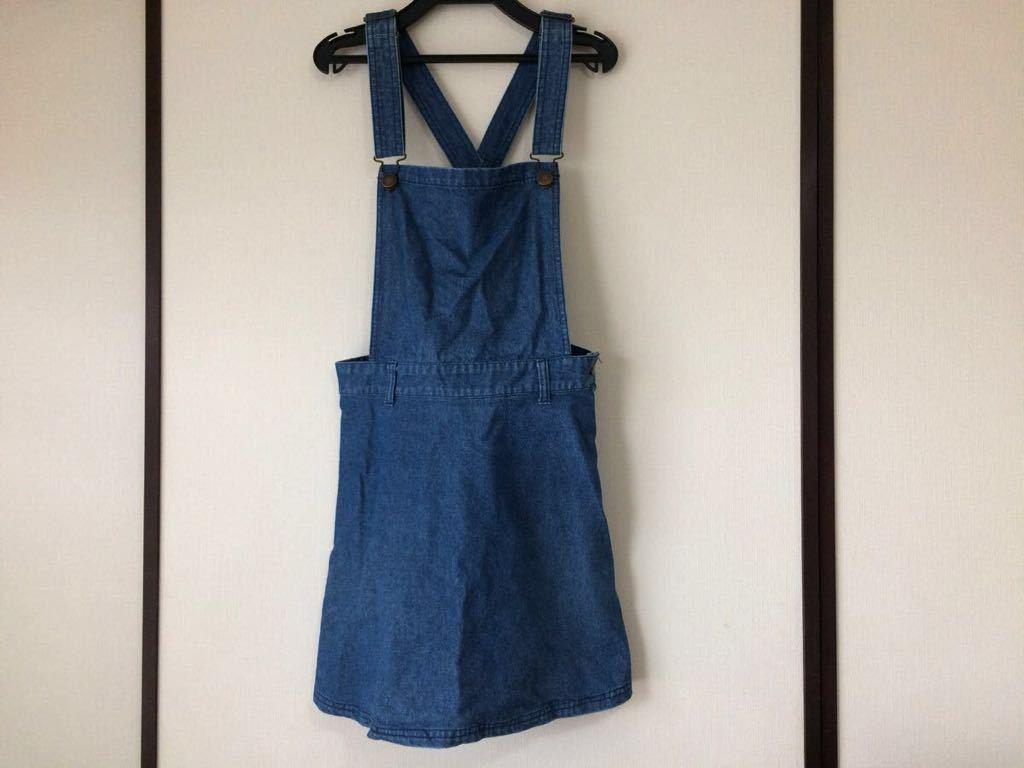dazzlin ダズリン☆デニムサロペットスカート☆ブルー☆S