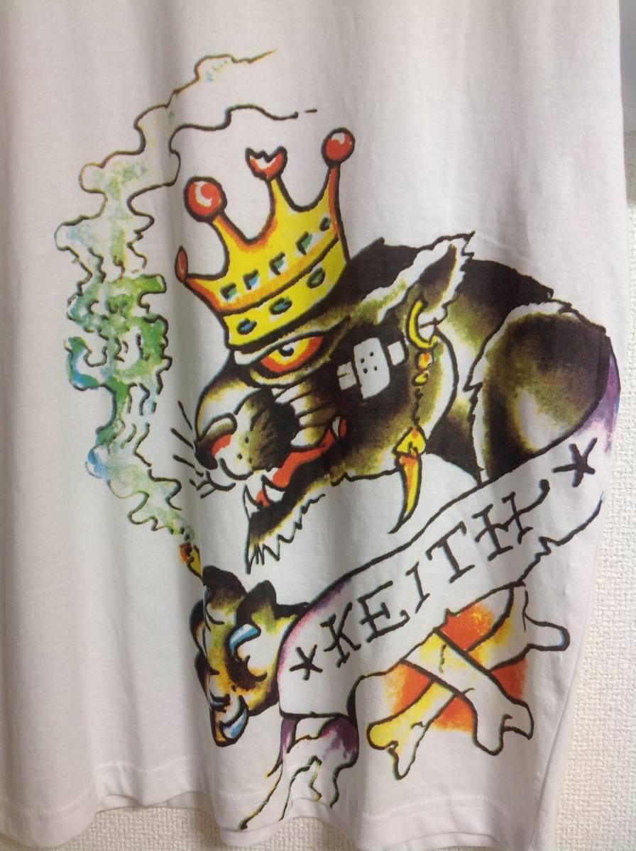送料無料★新品タグ付き 正規品 Ed Hardy エドハーディ Tシャツ サイズM ブラックパンサー タトゥー★ホワイト 白_画像4