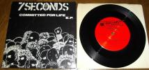 hrqrc288 - 7SECONDS [ COMMITTED FOR LIFE ] EP PAZZAFIST盤 BIG BOYS BAD BRAINS BLACK FLAG YOUTH BRIGADE HUSKER DU CAUSE FOR ALARM