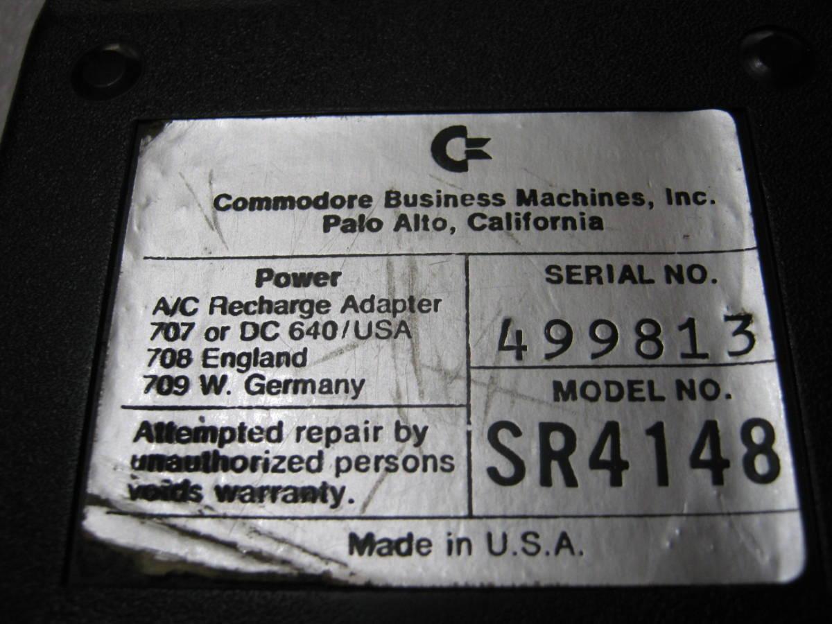 【電卓】コモドール社製 関数電卓 赤色LED表示 おしゃれなデザイン USA_画像3