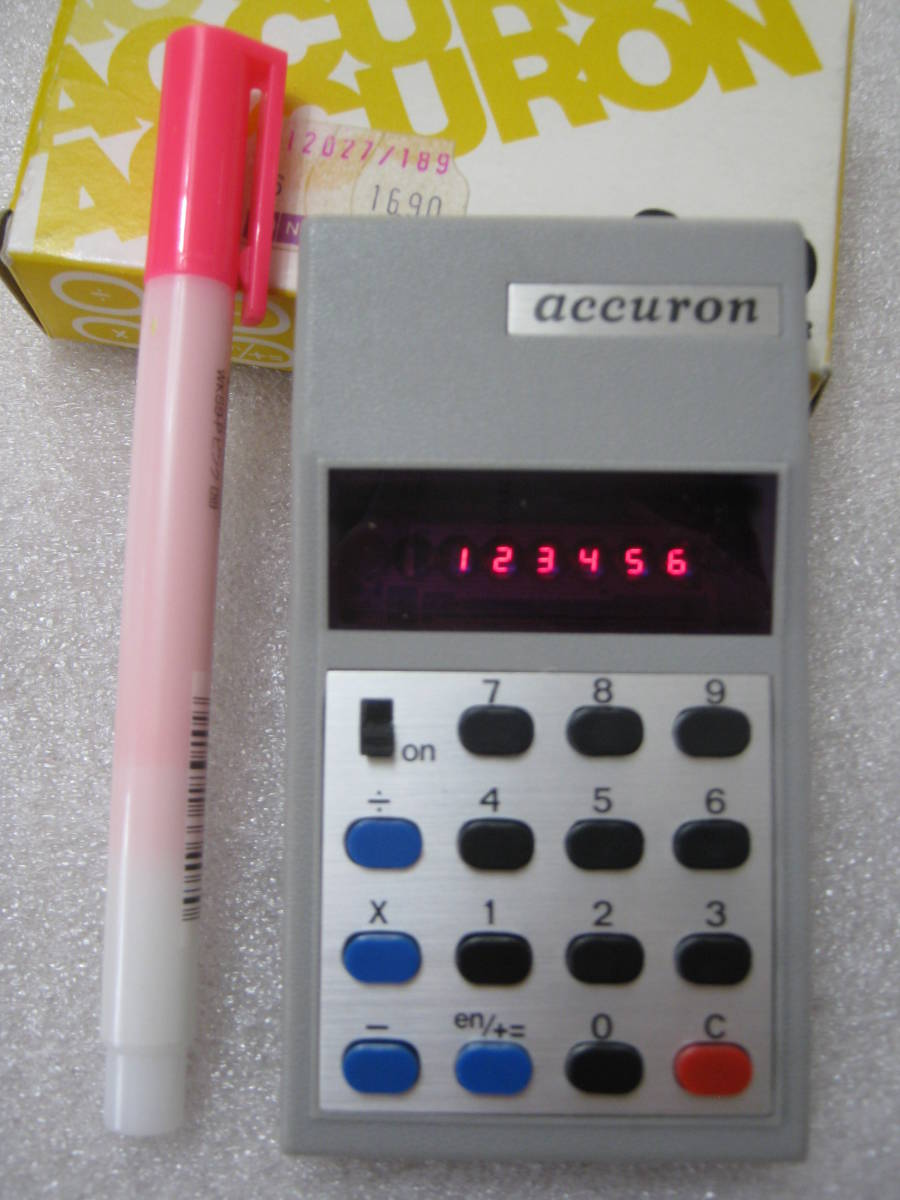 【電卓】超小型 RPN 逆ポーランド法入力 ミニ電卓 赤色LED表示_画像2