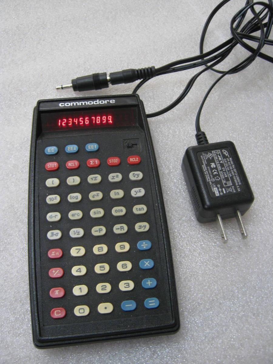 【電卓】コモドール社製 関数電卓 赤色LED表示 おしゃれなデザイン USA_画像1