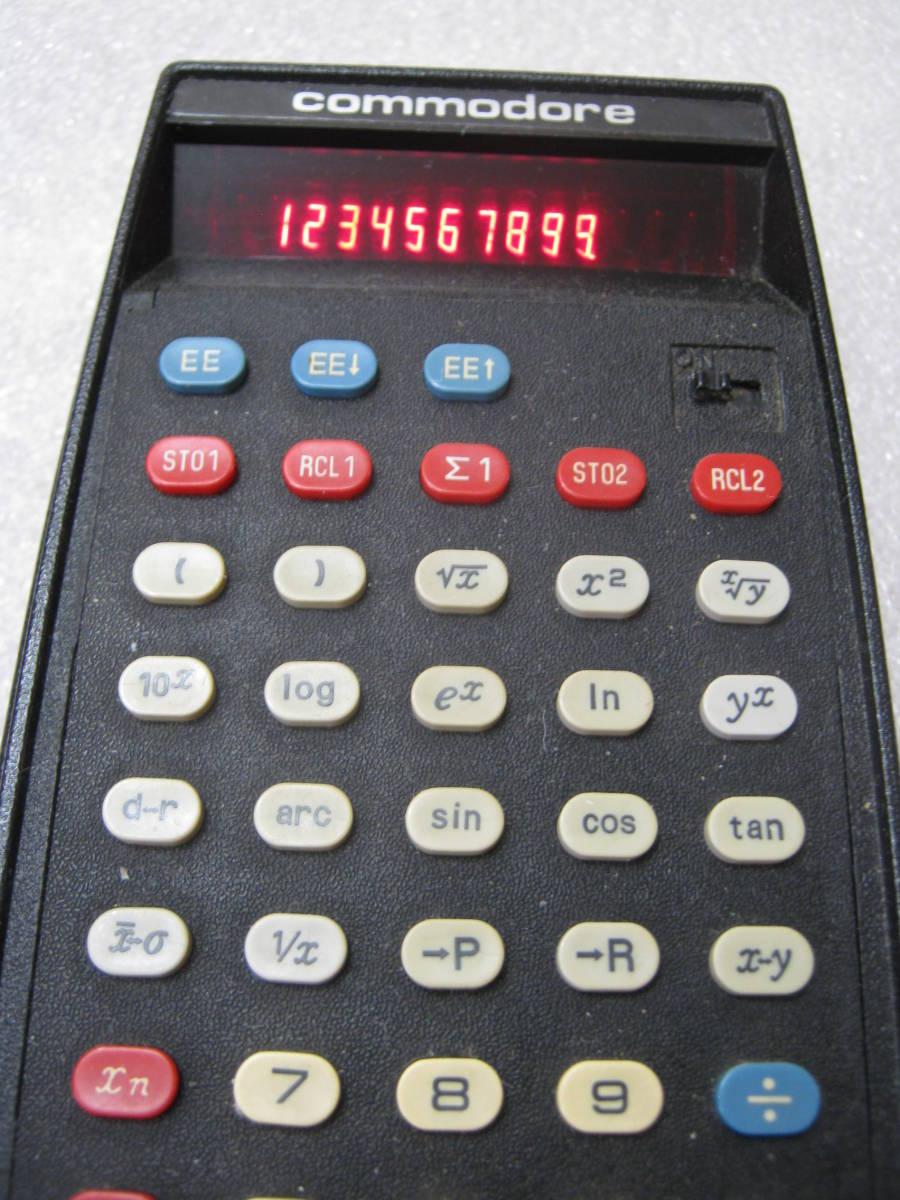 【電卓】コモドール社製 関数電卓 赤色LED表示 おしゃれなデザイン USA_画像2