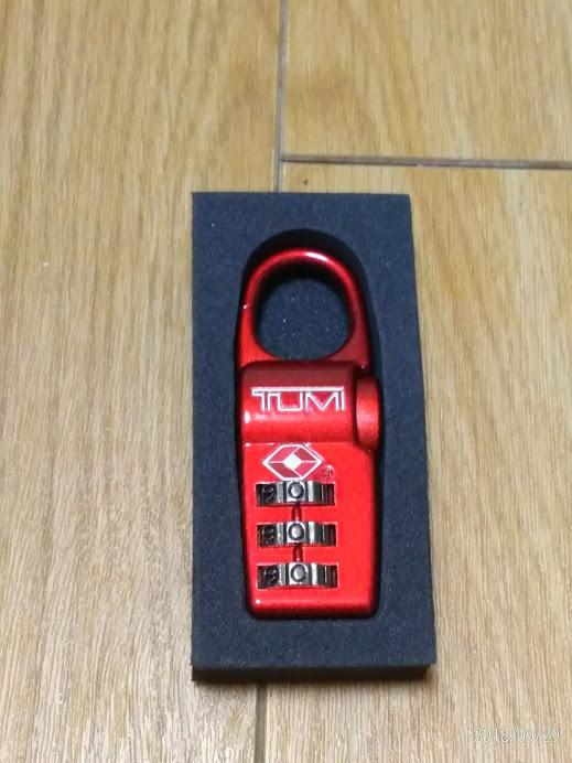 新品未使用 TUMI(トゥミ) TSAロック 3桁ダイヤルロック 赤