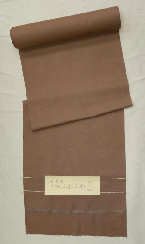 処分超特価:米沢長井紬・先染紬無地感・ふわふわ・手縫い仕立付(付属付)_画像1