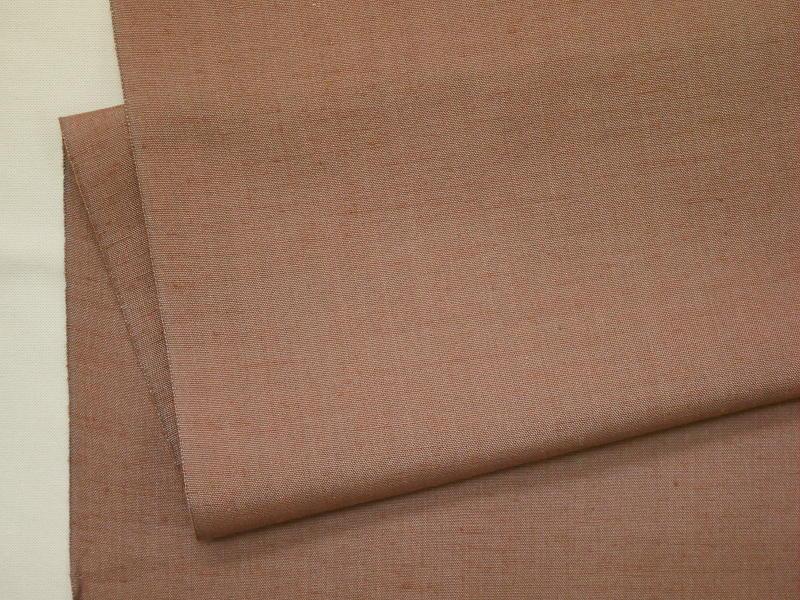 処分超特価:米沢長井紬・先染紬無地感・ふわふわ・手縫い仕立付(付属付)_画像3