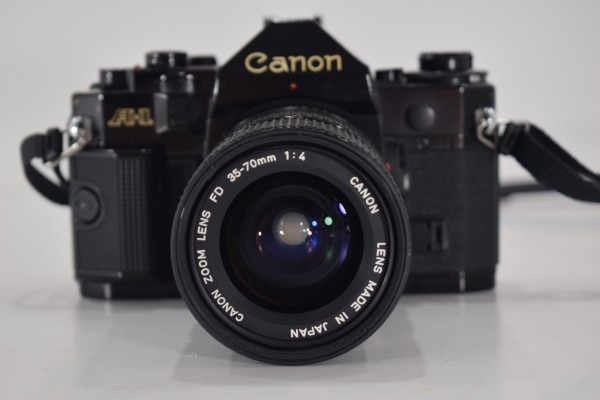 Canon キャノン A-1 一眼レフ カメラ レンズ FD 35-70mm 1:4 当時物 フィルムカメラ OT-324_画像2