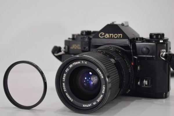 Canon キャノン A-1 一眼レフ カメラ レンズ FD 35-70mm 1:4 当時物 フィルムカメラ OT-324